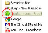 Where will I see my favicon?